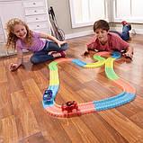 Оригинальная светящаяся детская дорога MAGIC TRACKS  360 деталей  2 машинки + 220 деталей, фото 4
