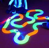 Оригинальная светящаяся детская дорога MAGIC TRACKS  360 деталей  2 машинки + 220 деталей, фото 5