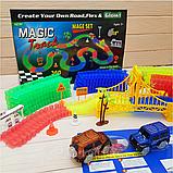 Оригинальная светящаяся детская дорога MAGIC TRACKS  360 деталей  2 машинки + 220 деталей, фото 10