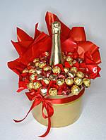 Букет из Ферреро Роше и шампанского на Новый Год!