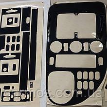 Декоративні накладки/ наклейки (декор панелі) Віто 638/Vito 638. Чорний глянець. Туреччина
