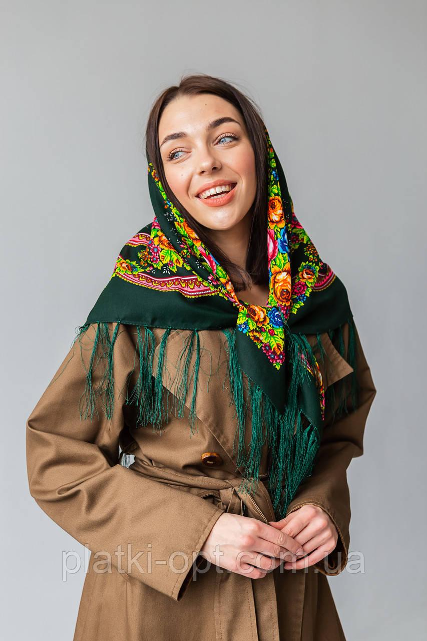 Хустка вовняної з бахромою (Туреччина) зелений