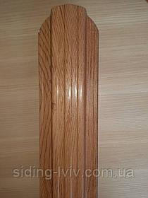 Євроштахети металеві 115 мм одно (двох) сторонній біле дерево, вільха світла, вільха звичайна,
