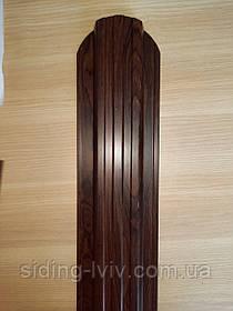 Штахетник штахети металевий 115 мм темне дерево , темний дуб , темно коричневий штахетник