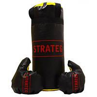 Боксерская груша Strateg Elite Sport, средняя, 46*18 см, (2021S)