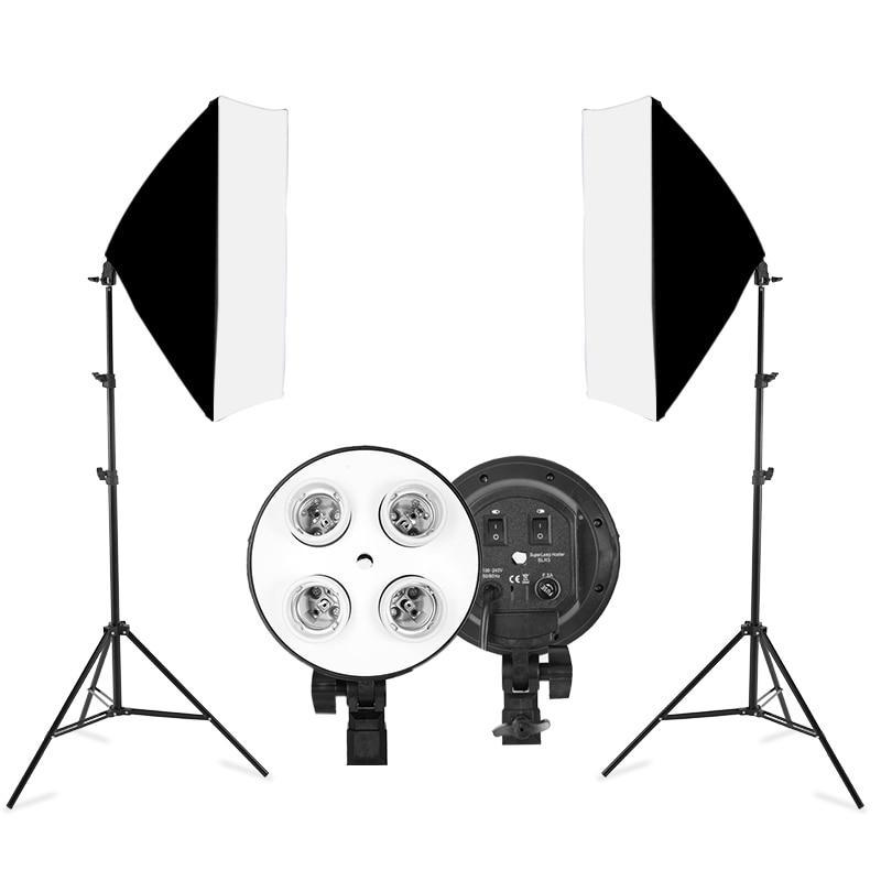 Комплект студійного світла на 4 лампи(Софтбокси 50х70 см)