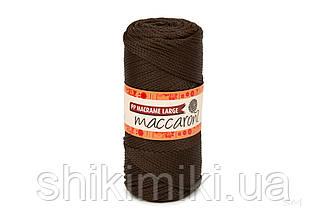 Трикотажный шнур PP Macrame Large 3 mm, цвет Шоколад