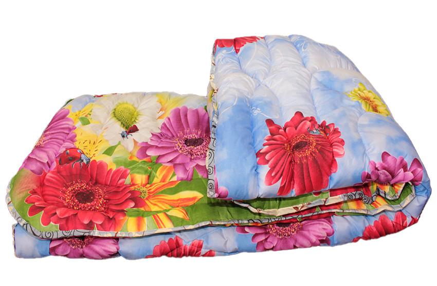 Одеяло двуспальное Евро 190*215 шерстепон 300 г, тм TAG.