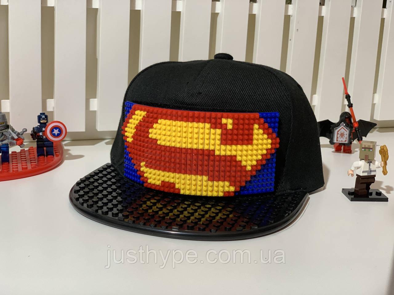 """Бейсболка конструктор """"Супермен великий"""" Код 12-0807"""