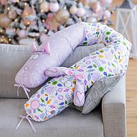 """Подушка валик для дітей і для вагітних """"Крокодил"""", фото 1"""