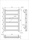 Электрический полотенцесушитель Genesis-Aqua Level 80x53 см, фото 2