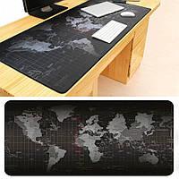 Килимок для миші Карта світу 70*30 black map