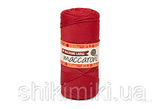 Трикотажный шнур PP Macrame Large 3 mm, цвет Рубин