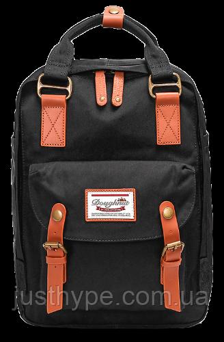 Рюкзак Doughnut чорний + сумочка Doughnut в подарунок Код 10-6214