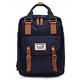 Рюкзак Doughnut чорний + сумочка Doughnut в подарунок Код 10-6214, фото 2
