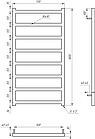 Электрический полотенцесушитель Genesis-Aqua Bud 100x53 см, фото 2