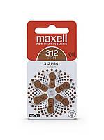 Maxell  PR41 (312) 6BS Zinc Air для слуховых аппаратов, фото 1