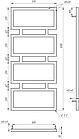Электрический полотенцесушитель Genesis-Aqua Quattro 120x53 см, фото 2