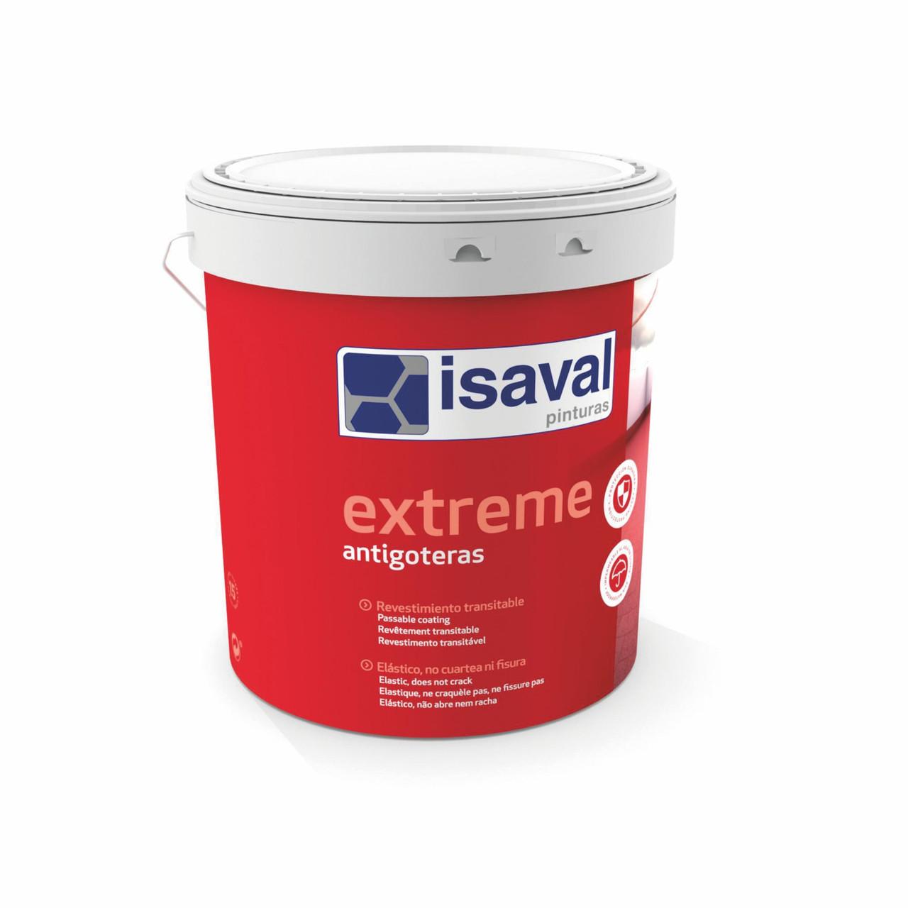 Краска резиновая гидроизолирующая для кровли, стен и полов Антиготерас ISAVAL 4л≈3,2м²/в 3 слоя