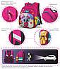 Рюкзак школьный для девочки в 1-4 класс ортопедический набор пенал и сума для обуви Winner One R3-221, фото 5