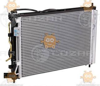 Блок охолодження Hyundai Solaris, Kia Rio (від 2010р) AT (радіатор+конденсер+вентилятор) (Luzar Росія) ЗЕ