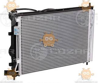 Блок охолодження Hyundai Solaris, Kia Rio (від 2010р) MT (радіатор+конденсер+вентилятор) (Luzar Росія) ЗЕ