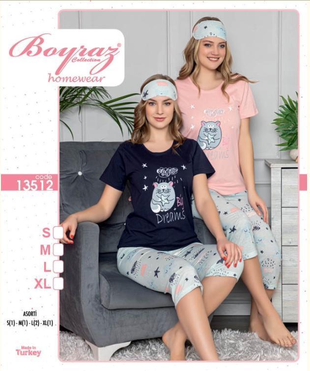 Пижама женская футболка с капри BOYRAZ 13512 размер L