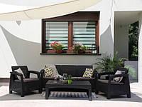 Комплект садовой мебели Keter Corfu Set Lyon Max Графит