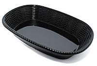 Блюдо овальное из меламина, 350 × 247 × 69 мм, черное