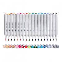 Набор скетч-маркеров 18 шт. в фирменном пенале Santi (лучше чем TOUCH) (390597), фото 2