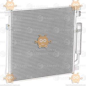 Радиатор кондиционер с ресивером Mitsubishi L200 (от 2015г), Pajero Sport (от 2015г) 2.4D AT (Luzar) ЗЕ 15447