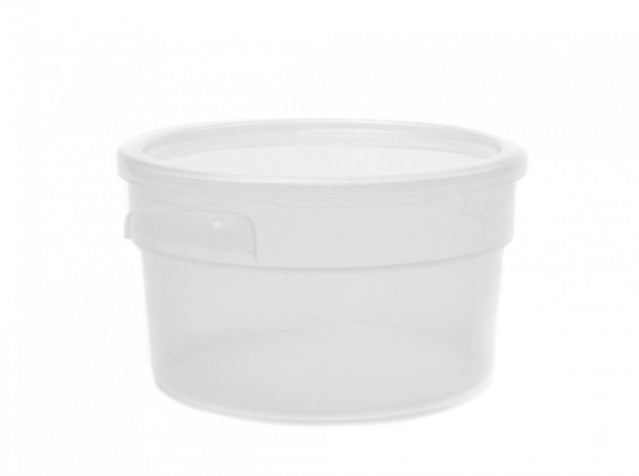 Контейнер круглый для хранения продуктов, полипропилен, прозрачный 1,89 л