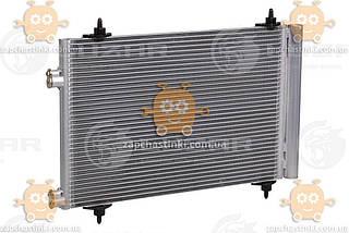 Радиатор кондиционера Citroen C4 1.4i, 1.6i, 2.0i (от 2004г) с ресивером (пр-во Luzar Россия) ЗЕ 58909
