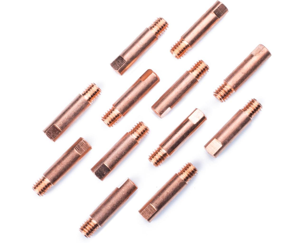 Наконечник токосъёмный 1,2 мм E-Cu М6 D6мм/L25мм для горелки сварочного полуавтомата