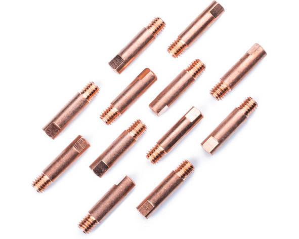 Наконечник токосъёмный 1,2 мм E-Cu М6 D6мм/L25мм для горелки сварочного полуавтомата, фото 2