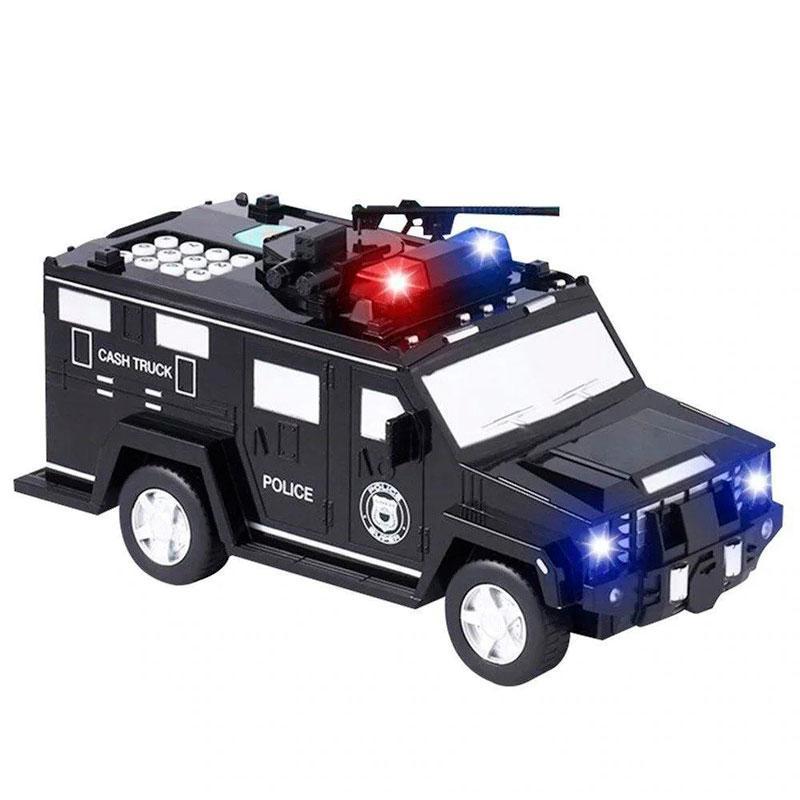 Игрушечный сейф копилка с купюроприемником для денег Полицейская машина NO.06688-19 черная   дитячий сейф (NS)