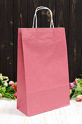 """Бумажный подарочный крафт пакет однотонный """"Бордовый"""" 24*37*10см 10шт/уп (100шт/ящ)"""
