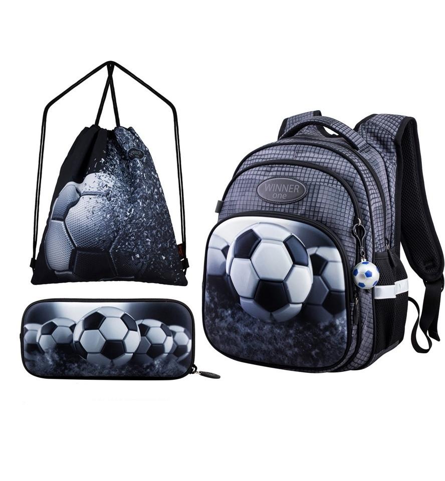 Рюкзак школьный в 1-4 класс ортопедический для мальчика с пенальм и сумкой для обуви Winner One R3-224