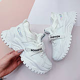 Жіночі кросівки білі текстиль+ еко шкіра весна/ літо/ осінь, фото 2