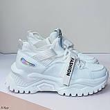 Жіночі кросівки білі текстиль+ еко шкіра весна/ літо/ осінь, фото 4