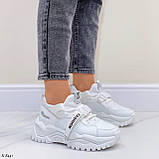 Жіночі кросівки білі текстиль+ еко шкіра весна/ літо/ осінь, фото 5