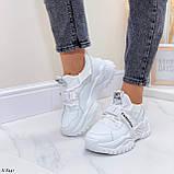 Жіночі кросівки білі текстиль+ еко шкіра весна/ літо/ осінь, фото 7