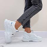 Жіночі кросівки білі текстиль+ еко шкіра весна/ літо/ осінь, фото 6
