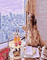 Картина рисование по номерам Brushme Завтрак с видом мечты PGX33804 40х50см набор для росписи, краски, кисти