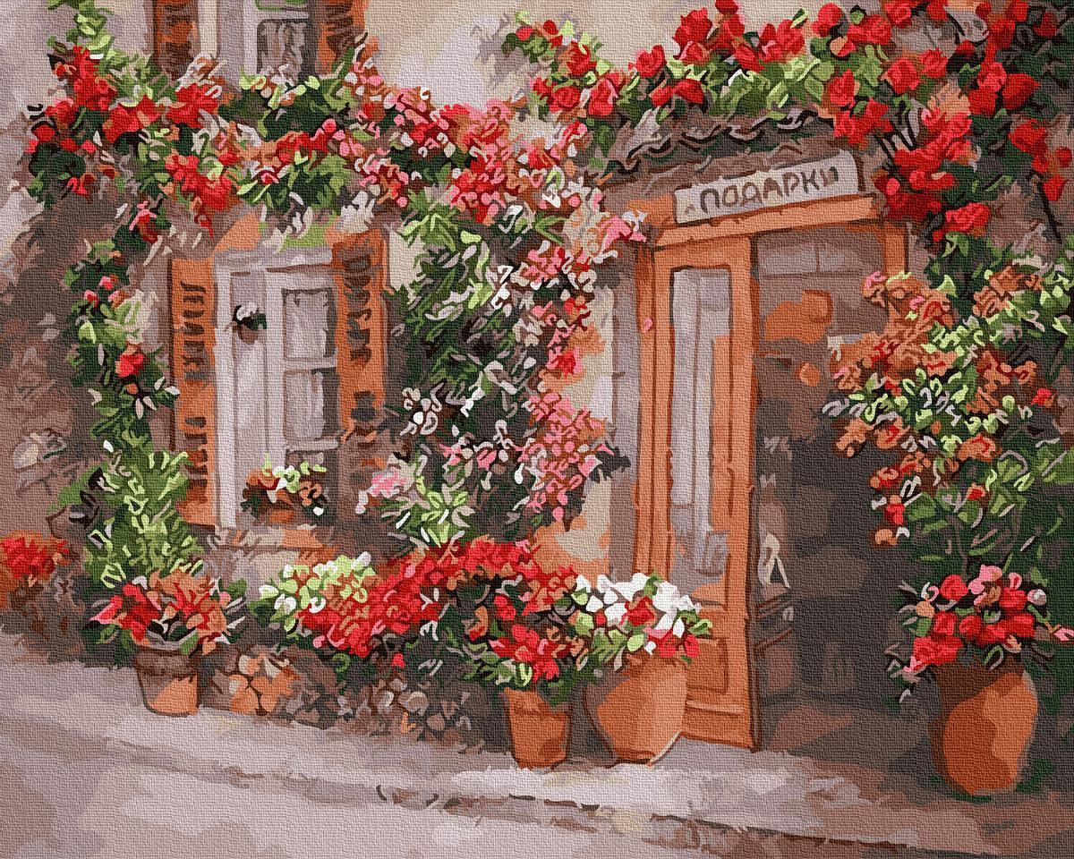 Картина рисование по номерам  Цветочная улица GX31040 40х50см набор для росписи, краски, кисти холст