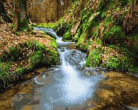 Картина рисование по номерам  Водопад среди гор GX28758 40х50см набор для росписи, краски, кисти холст