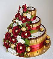 """Торт из конфет """"Алые розы"""", фото 1"""