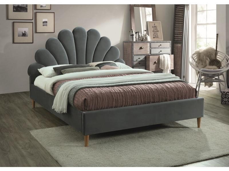 Кровать Santana Velvet SIGNAL серый