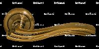 Дверные ручки на круглой розетке BRILLANTI AL-073 AB (античная бронза)