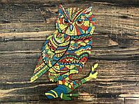 Деревянный пазл Золотая Сова. Фигурный пазл Goldy Owl. , фото 1